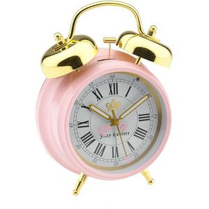 Juicy Couture 'Back to School' Alarm Clock for my daughter.... The first thing I ever got her was a pair of Jucy Couture earrings....