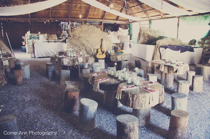 Roofed area reception @ Bosduifklip #farmweddings #outdoorweddings #lambertsbayweddings