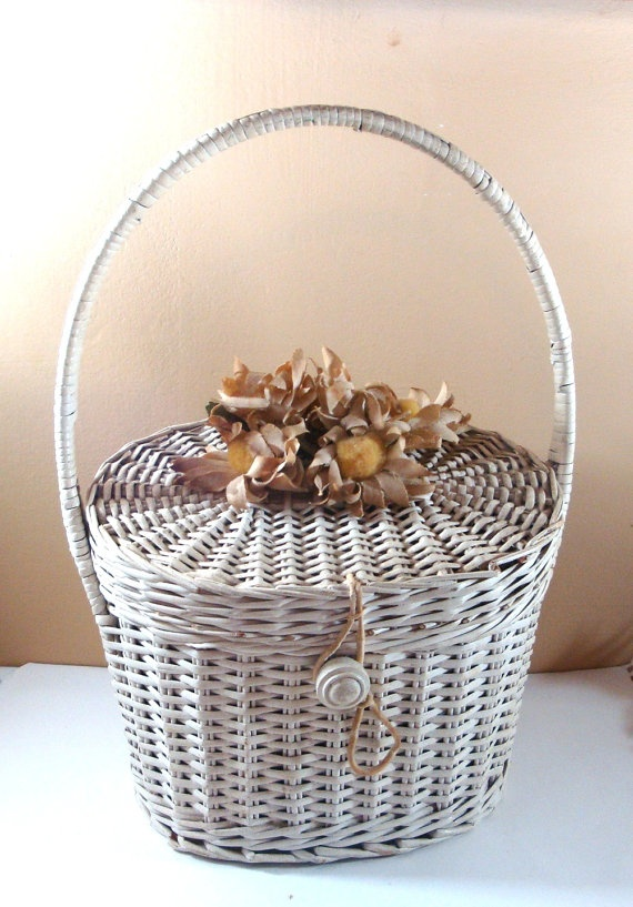 Vintage It's In The Bag Purse Ritter Wicker by AntiquesGaloreGal