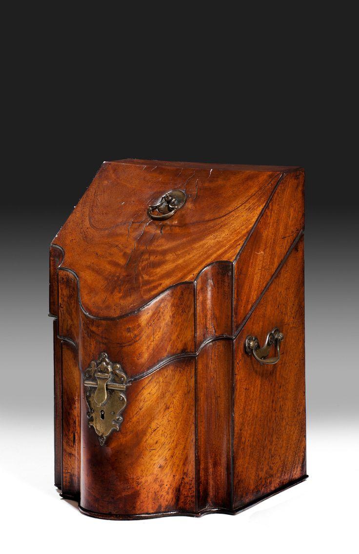 Richard Gardner Antiques  GEORGE III CUTLERY / KNIFE BOX Date: Circa 1760