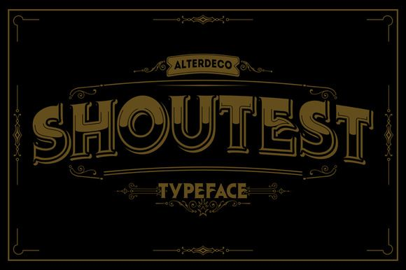 Shoutest typeface | Fonts and Typography