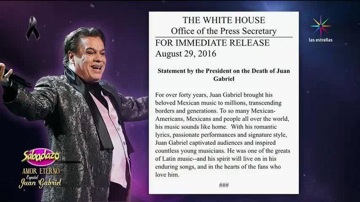 Las voces del mundo se sumaron a la del Presidente de Estados Unidos, Barack Obama, para dar a conocer la noticia sobre la muerte de Juan Gabriel