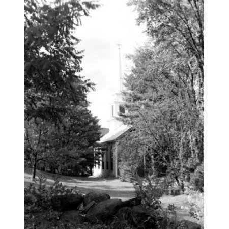USA Vermont Grafton house among trees Canvas Art - (18 x 24)