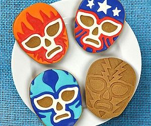 Lucha Libre Cookie Cutters . Stop wrestling with hunger pains and take a bite out of some delicious lucha libre cookies that are guarant...