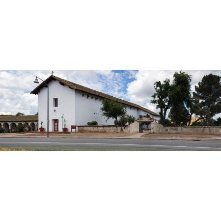 Mission San Miguel church at roadside San Miguel San Luis Obispo County California USA Canvas Art - Panoramic Images (36 x 12)