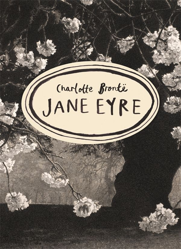 The beautiful new Vintage Classics Brontë Series cover for Jane Eyre. I recently bought a copy of this to replace my two-volume 1970s version, and it's beautiful.