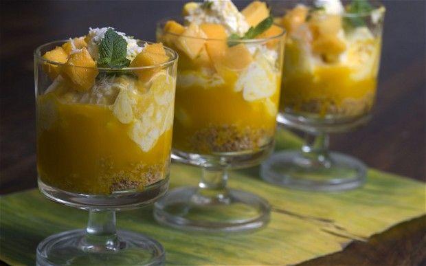 Shelina Permalloo's mango, rum and lime syllabub