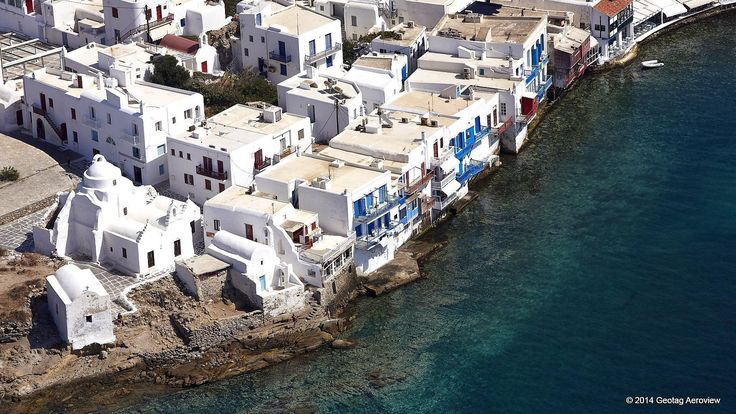 Little Venice of Mykonos from above... The cycladic island is widely famous for its nightlife, glamour and cosmopolitan beaches, but you can also discover quiet, peaceful spots and enjoy an absolutely amazing vacation. #Mykonos #holidays #summer #glamour #party_all_night #aerialphotos #aerialvideos #cyclades #greek_islands #SouthAegean #GoThereBeforeYouGetThere #TRIPinVIEW