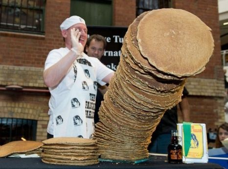 76cm is the world's tallest pancake stack. Do you think you could do better this Pancake Day?