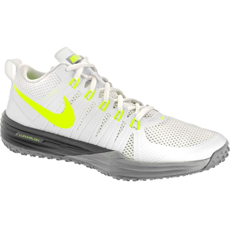 Nike Lunar TR1: Nike Men's Cross Training Shoes White/Volt/Wolf Gray