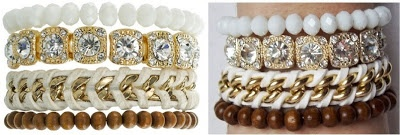 JDS - How to make your own version of Samantha Wills All of the Lights bracelet stack. Can you tell which one is which designer? - http://jeweldivasstyle.com/designer-inspired-how-to-make-your-own-version-of-samantha-wills-all-of-the-lights-bracelet-stack/