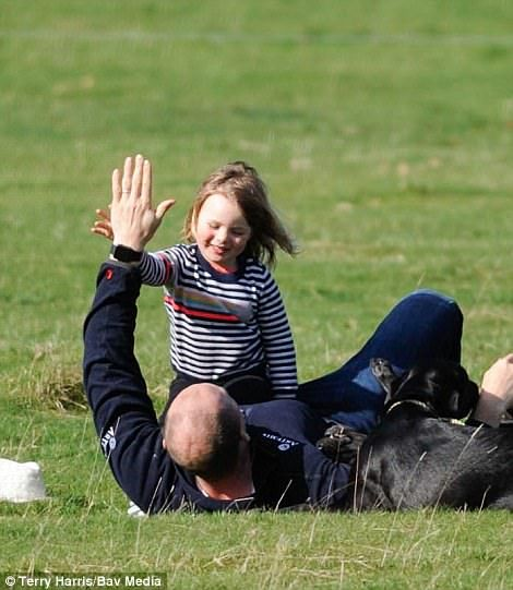 They were supporting British equestrian Zara, 35, in Lincolnshire yesterday afternoon...
