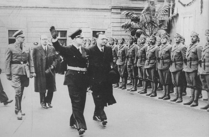 Kasche I Lorkovic Zagreb Svibanj 1941 Zagreb Croatia Wwii