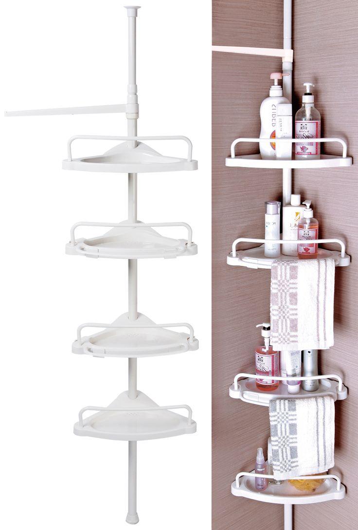badregal duschecke hhe wei jetzt badregale aus chrom oder edelstahl online bei woltu kaufen und bestelle gnstiger preis - Eckregal Dusche Glas