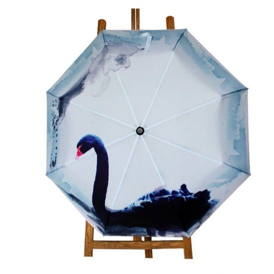 https://www.mylifeunit.com/Black-Swan-Painting-Automatic-Folding-Travel-Compact-Umbrella