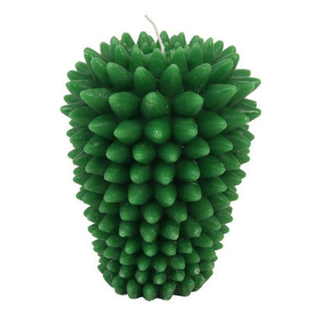 Une bougie trompe l'œil Shopping : le cactus inspire la déco
