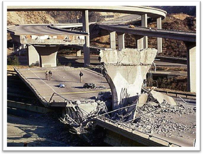 The      Northridge earthquake cracked the surface pavement on the upstream  slope of the Los Angeles Dam  Overall  the dam  designed to withstand