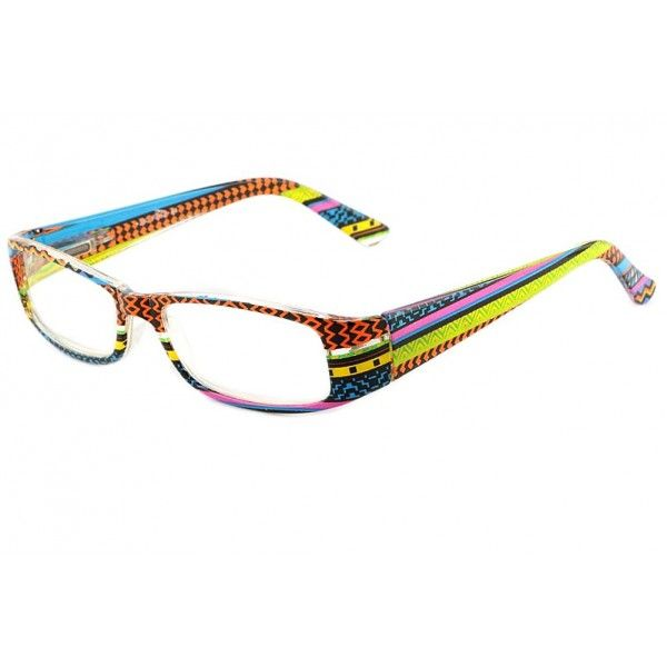 Lunette loupe fantaisie Pop Art orange bleue