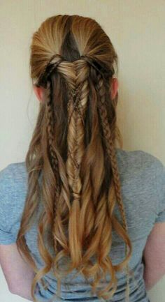 Fancy Braids, medieval/ fantasy hair fishtail braid