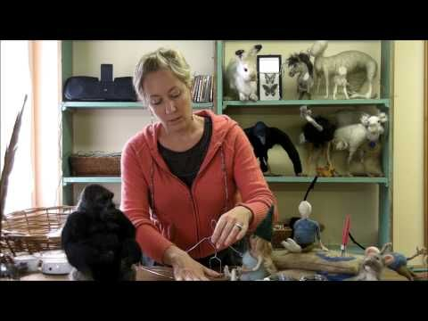 Armature Tutorial - How to Make an armature for needle felted figures and people.