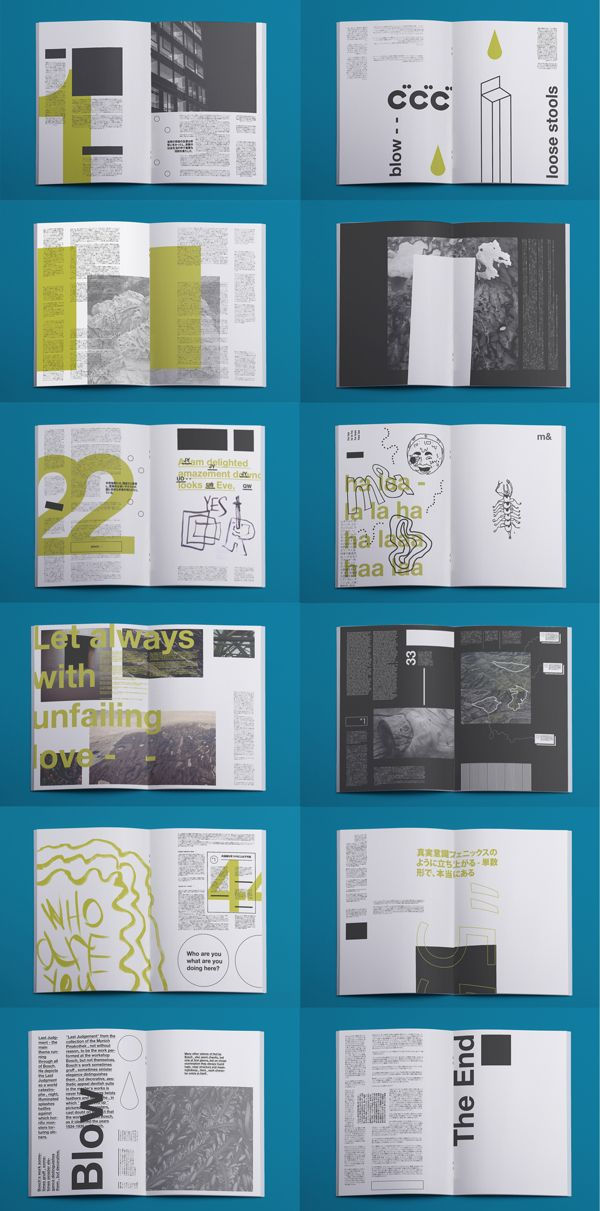 m& Fanzine by Ignat Makoto, via Behance | Media as art | print (book, magazine, newspaper) + typography + editorial + layout + design |