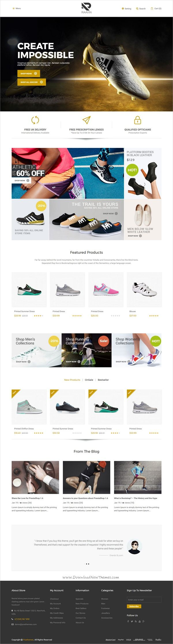 Raavin is a wonderful responsive #Prestashop theme for awesome #shoes store #eCommerce website with 3 unique homepage layouts download now➩ https://themeforest.net/item/raavin-shoes-responsive-prestashop-theme/19538786?ref=Datasata