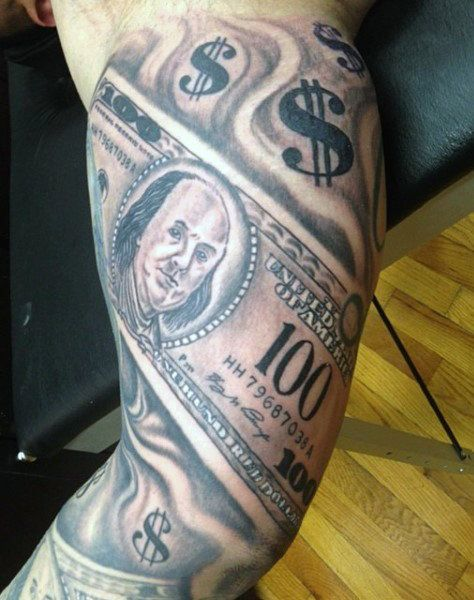 Download Free Sleeve Money Sign Tattoo For Men to use and take to your artist.