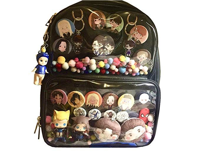 Ita Bag Ita Backpack Candy Leather Backpack Transparent Girls School Bag  Anime Lolita Bag DIY 2c1ede78999a9