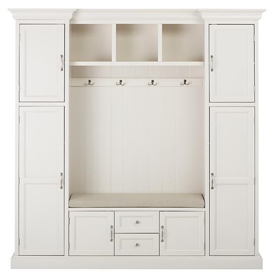 Royce All-in-One Mudroom - Mudroom Storage - Hall Tree - Entryway Storage - Storage Cabinet   HomeDecorators.com