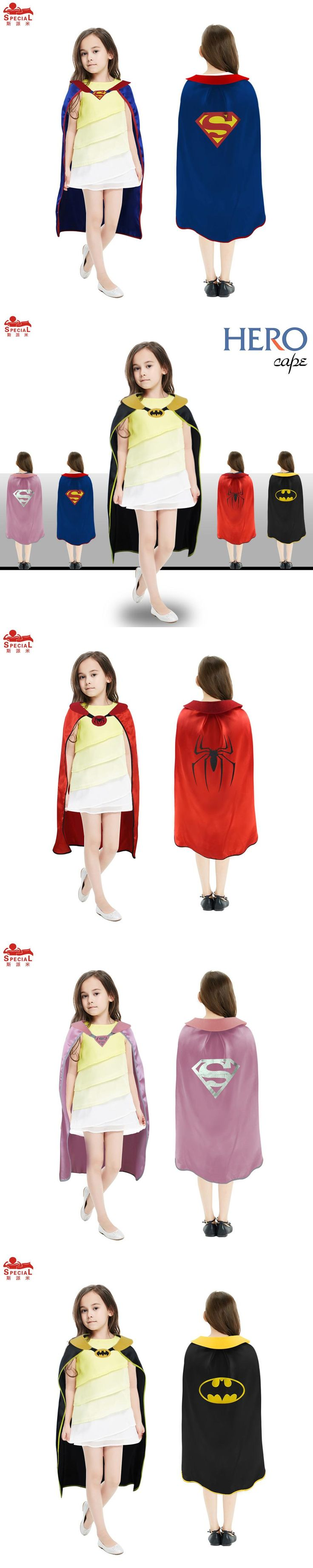 L27* Kids superhero cape for party dress up Children Day kid costume for girl cosplay Halloween superman costume