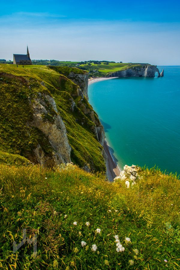 Étretat, Normandy France; One of my true loves! Been there and HIGHLY recommend it for the traveler seeking breath-taking views!!!
