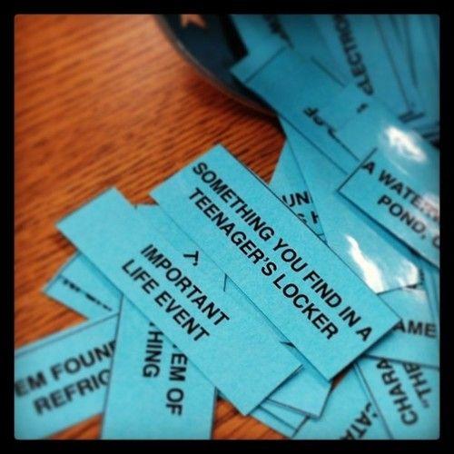 Vocabulary Scattergories - fun, free activity