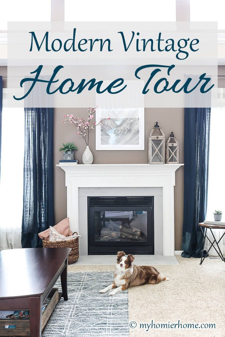 Modern Vintage Home Tour My Homier Home In 2020 Modern Vintage Homes Vintage House Cheap Home Decor