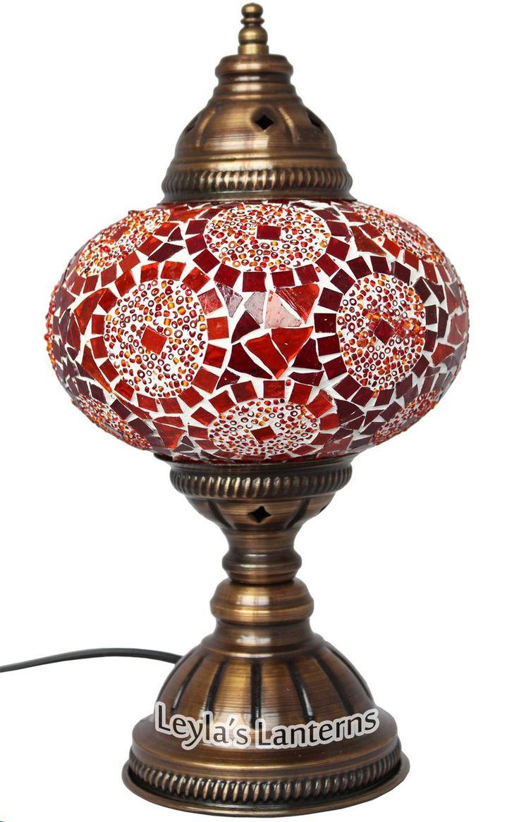 23 best turkish mosaic table lamps images on pinterest table 17 cm red circle mosaic turkish table lamp light lantern leylas lanterns geotapseo Gallery