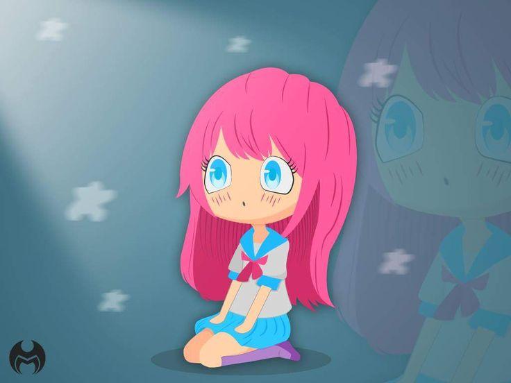 Anime . Anime wallpaper  . Flat art . Flat gesign . Cute anime . Cute