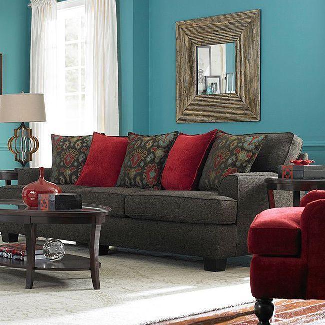 Westport Walnut Upholstered Sofa Ping Great Deals On Broyhill Sofas Loveseats