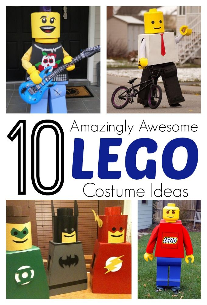 10 Amazing and Awesome Lego Costume Ideas for Kids | My boys will go crazy over these!