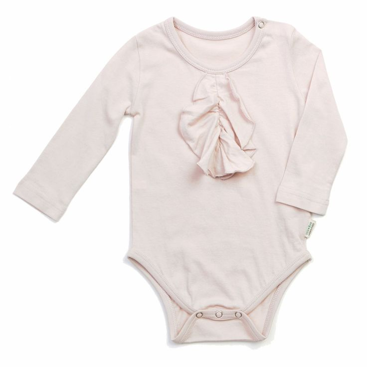 Romantic organic body with lovely frill detail. GOTS certified organic & sustainable.