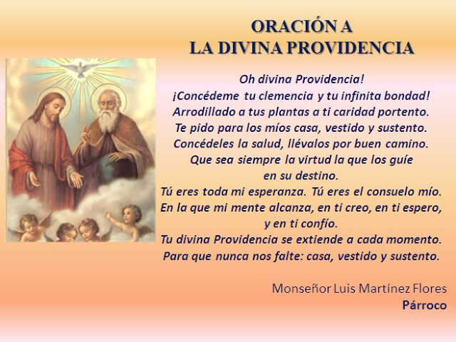 oracion divina providencia