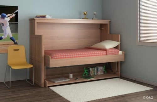 desk that turns into a bed how cool for the home pinterest. Black Bedroom Furniture Sets. Home Design Ideas
