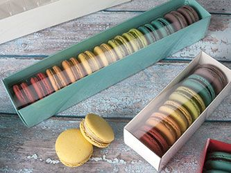 Example of some of our packaging, ours will be branded.  we expect our  French Macarons to be BIG sellers  Macaron Boxes