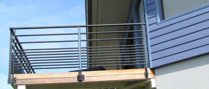 Garde-corps d'extérieur / en aluminium / à barreau / pour balcon - FÉRIA - Horizal