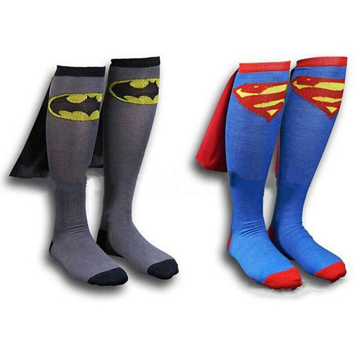 >> Click to Buy << Kids Cotton Socks Classical Cartoon Superman Batman Flash Cloak Cape Cotton Socks Long Superhero Socks with Cloak Socks  #Affiliate