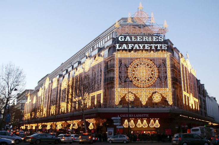 Galeries Lafayette in Paris is where I went shopping for clothes on my fifth day in Paris