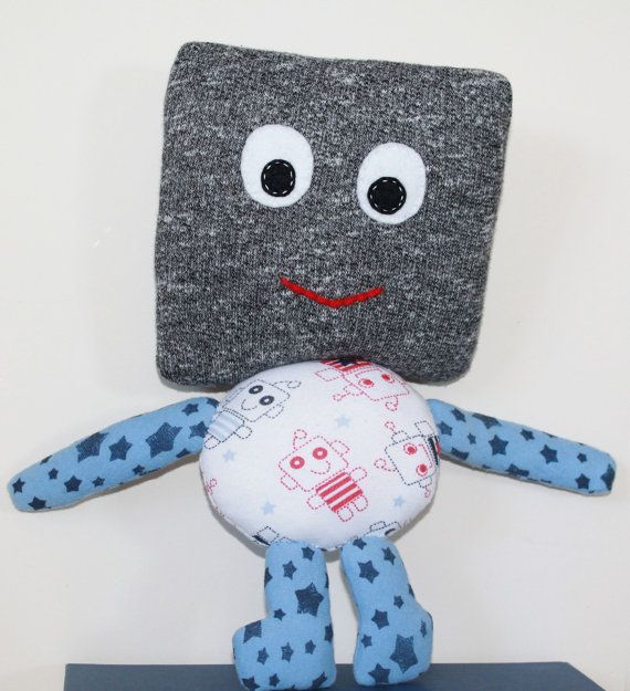 Unique little robot by TinyHappyBee on Etsy