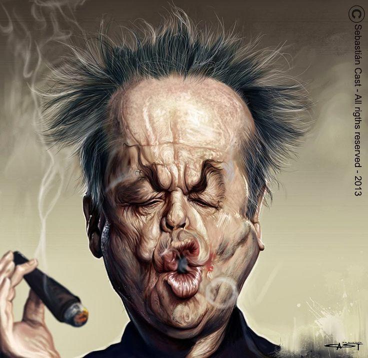 Caricatura de Jack Nicholson.