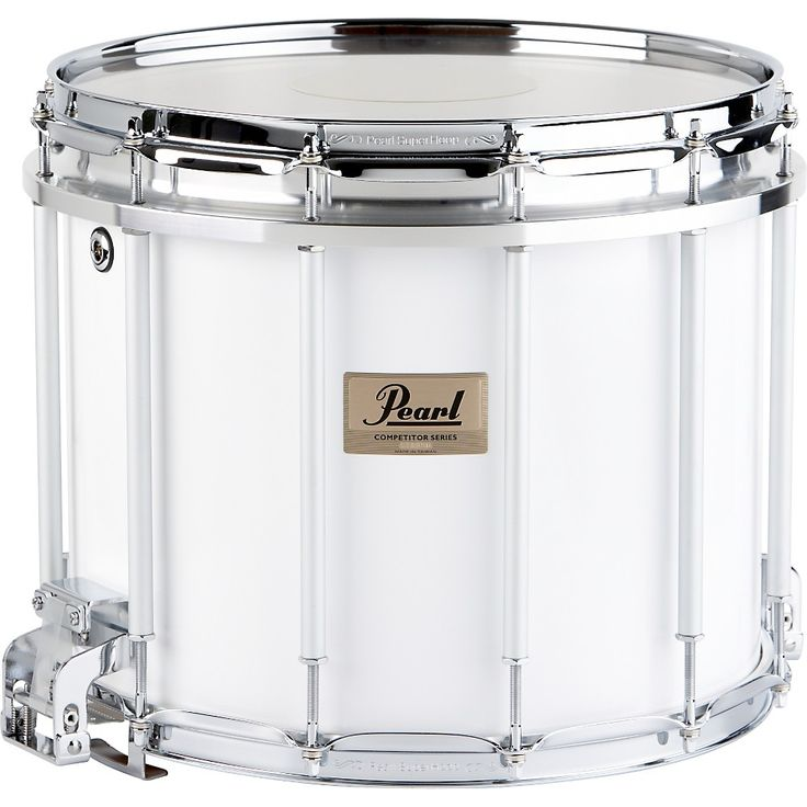 Pearl Competitor High-Tension Marching Snare Drum White 14 x 12 in. Hi