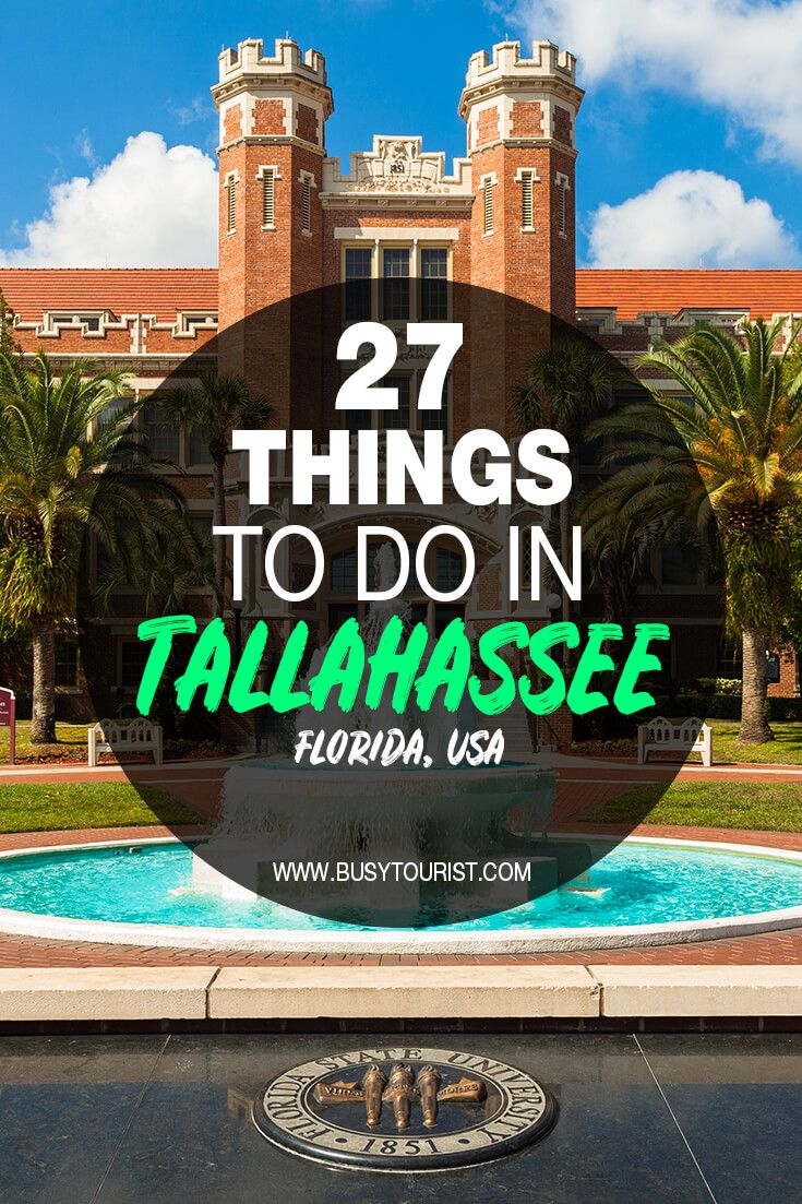 27 Fun Things To Do In Tallahassee Florida Florida Travel Us Travel Destinations Road Trip Usa