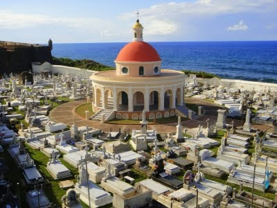 The most famous Cemetary in Old San Juan, Puerto Rico.  Eerie and beautiful.