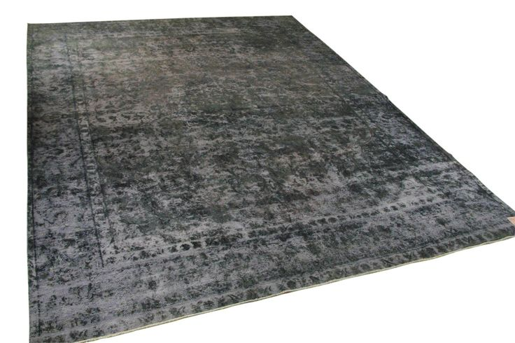 Vintage vloerkleed, zwart, 369cm x 289cm  | Rozenkelim.nl - Groot assortiment kelim tapijten